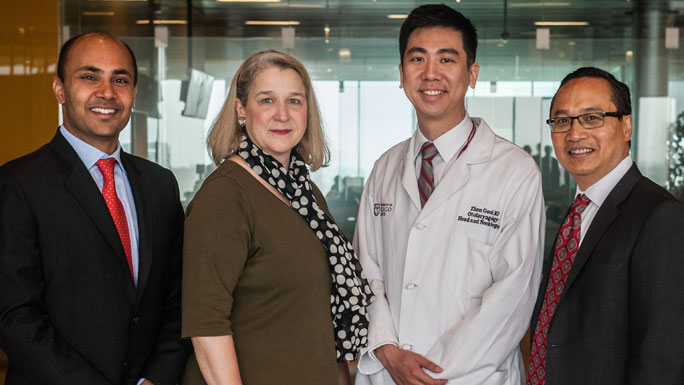 Head and neck surgeons: Nishant Agrawal, MD, Elizabeth Blair, MD, Zhen Gooi, MD, Louis de Guzman Portugal, MD