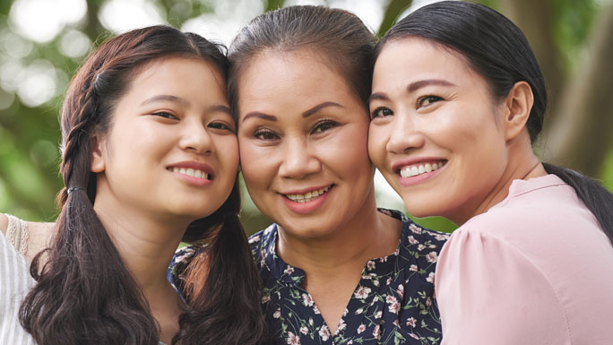 Multigenerational Asian women, stock photo