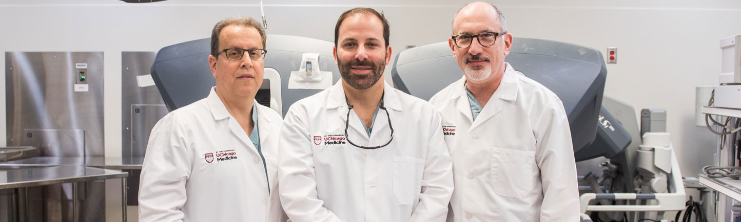 Surgeons Mitchell Posner, MD, Kevin Roggin, MD, and Jeffrey Matthews, MD
