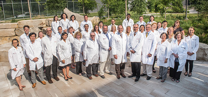 The entire UChicago Medicine inflammatory bowel disease team outside the CCD
