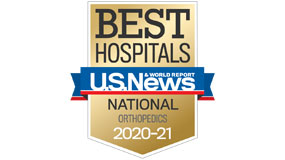 USNEWS ranked nationally in orthopaedics