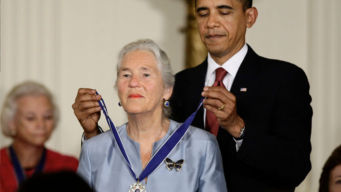 Janet Rowley, MD, receives the Presidential Medal of Freedom from President Barack Obama