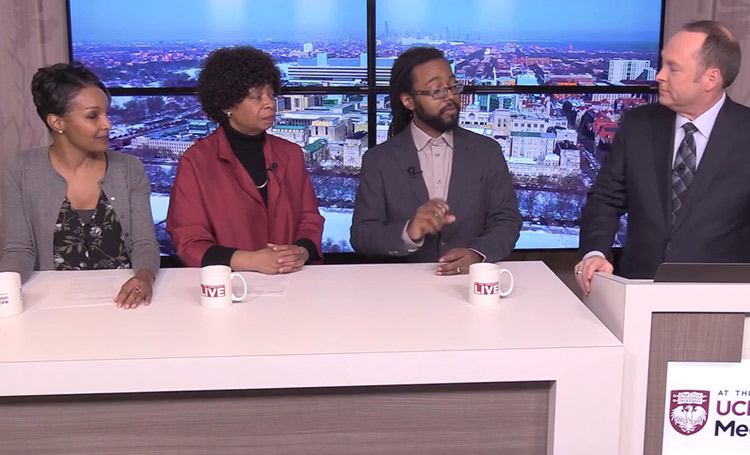 UChicago Medicine community health physicians Doriane Miller, MD, Edwin McDonald, MD and Monica Peek, MD, discuss health issues on the South Side.