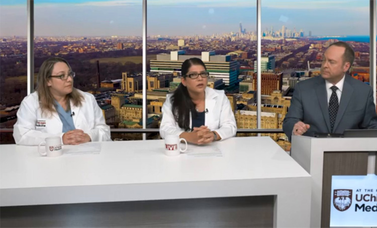 Dr. Sarosh Rana and Nurse Macaria Solache talk with Tim Brown about preeclampsia.