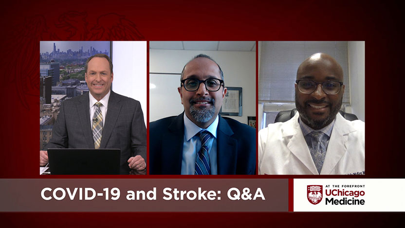 UChicago Medicine experts Dr. Shyam Prabhakaran and Advanced Practice Nurse Cedric McKoy discuss the neurological effects of COVID-19, including stroke-like symptoms.