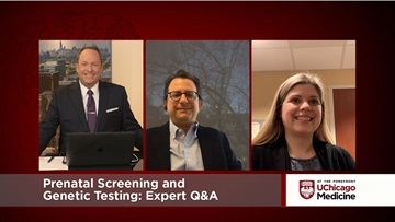 Dr. Ryan Longman and genetic counselor Bryanna McCathern discuss prenatal screening and genetic testing