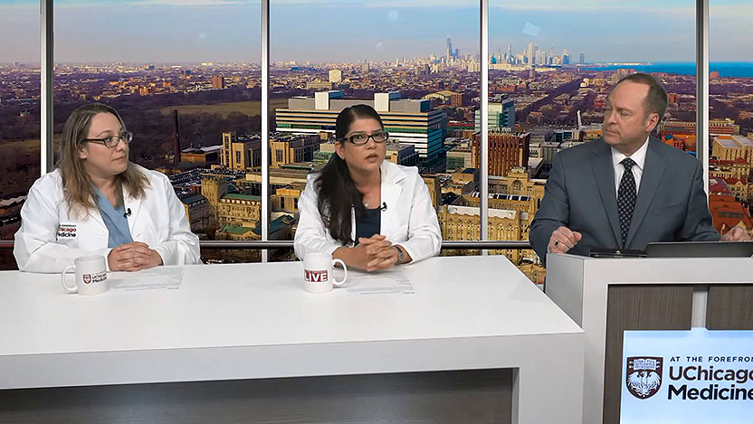 Dr. Sarosha Rana and nurse Macaria Solache discuss preeclampsia