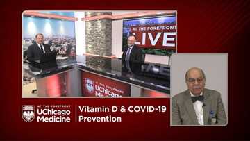 Vitamin D and COVID-19 prevention panelists Dr. David Meltzer and Dr. Raphael Lee