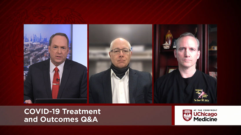 UChicago Medicine experts Dr. Michael O'Connor and Dr. Thomas Spiegel