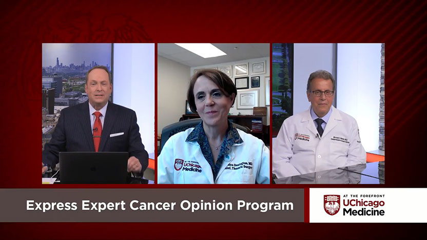 Dr. Mitchell Posner, Dr. Jessica Donington and Tim Brown on discuss new cancer program on At the Forefront Live