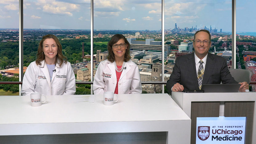 Drs. Hillary Jericho and Megan DeFrates on At the Forefront live discussing kids and constipation.