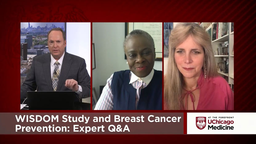 Funmi Olopade, MD, and Laura Esserman, MD, talking about the WISDOM study for breast cancer screening
