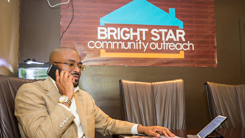 Bright Star Community Outreach provides a helpline service for victims of violence
