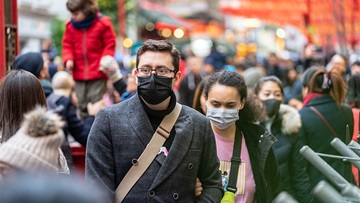 People wearing masks during covid