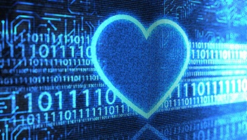 Heart with big data visualization