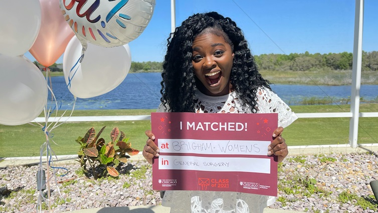 Pritzker School of Medicine student Abena Appah-Sampong is headed to the Harvard-affiliated Brigham and Women
