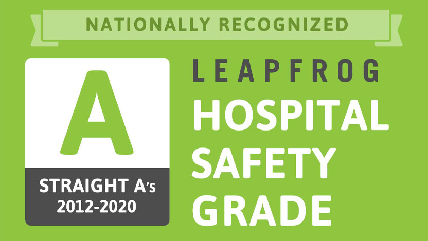 Leapfrog 17th consecutive A rating for hospital safety 2012-2020