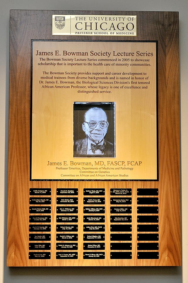 Bowman lecture plaque