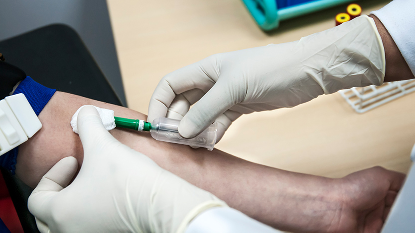 Taking a blood sample