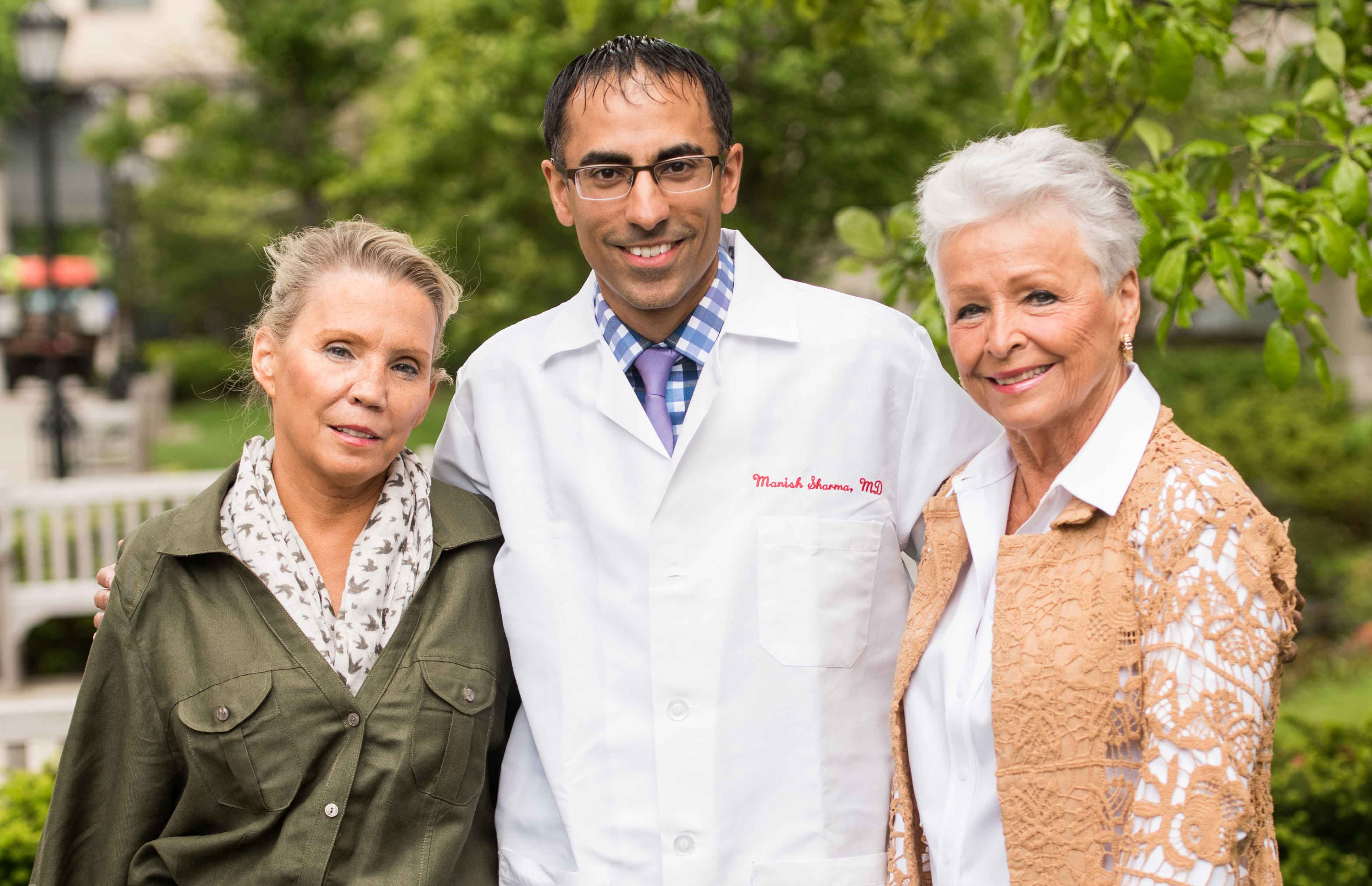 Debby Thompson, Dr. Manish Sharma, Margaret Harrigan