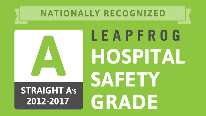 12th consecutive 'A' rating in patient safety from Leapfrog award
