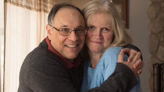 Colorectal cancer survivor Greg Karczmar and wife Kelly