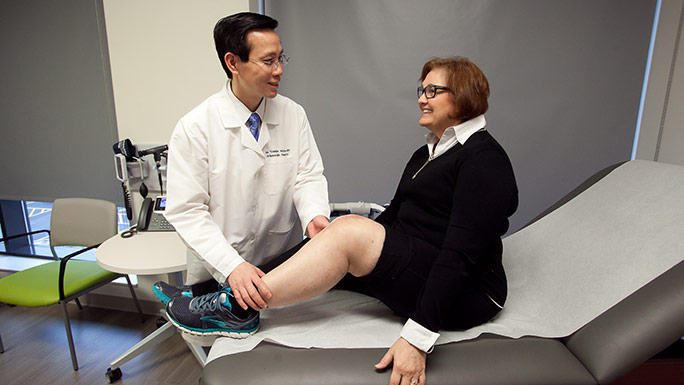 Meniscus tear is treated with robotic knee replacement