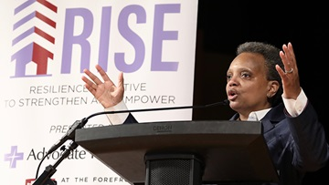 Lori Lightfoot delivered the opening remarks at Southland RISE