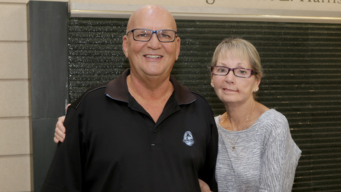 Ingalls lung cancer patient Diane Mitchell, right, with husband, Randy