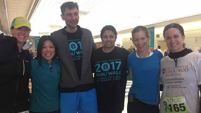 The University of Chicago team at the NOCC's Illinois Chapter Run/Walk to Break the Silence on Ovarian Cancer.