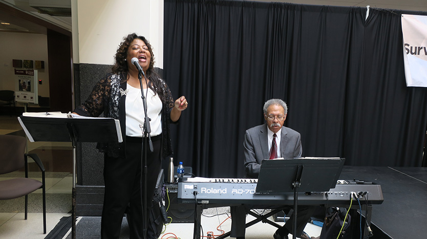 Jazz pianist Billy Foster and his wife and vocalist, Renee Miles-Foster
