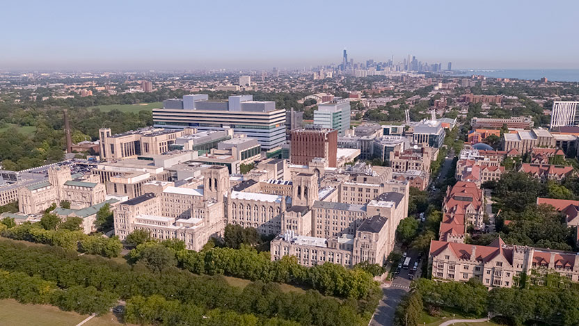 UChicago campus and skyline