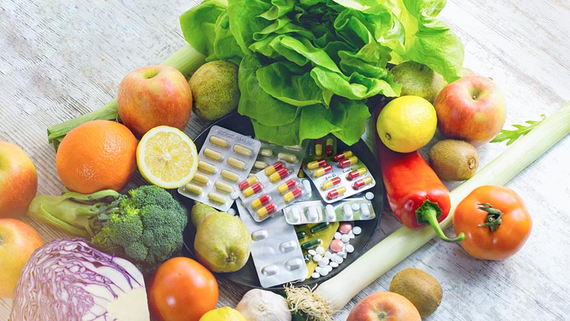 Nutrition supplements, fruits and vegetables