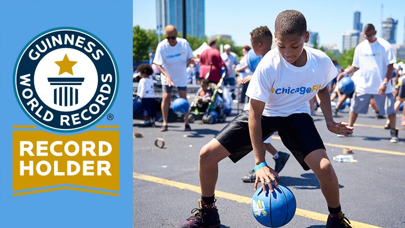 UChicago Medicine, Chicago Sky break the Guinness World Record for largest basketball lesson