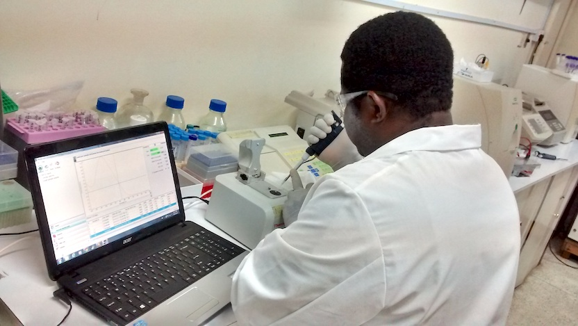 Lab research at the University of Idaban