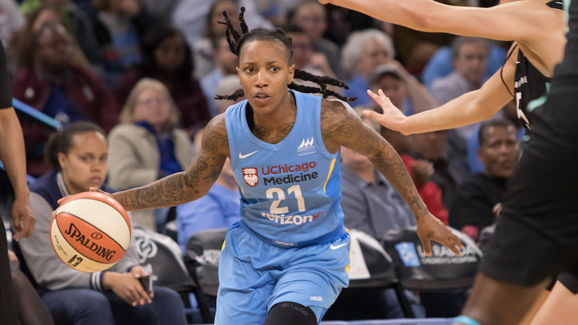 Jamierra Faulkner from the Chicago Sky