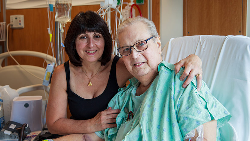 Joseph Anderson, lung transplant patient, pictured with his wife, Lina.