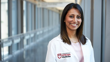 Leaders of the liver tumor clinic Drs. Anjana Pillai and Talia Baker
