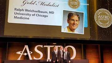 "Ralph Weichselbaum was given the highest honor bestowed by the American Society for Radiation Oncology (ASTRO) for ""revered members who have made outstanding contributions"" to the field of radiation oncology."