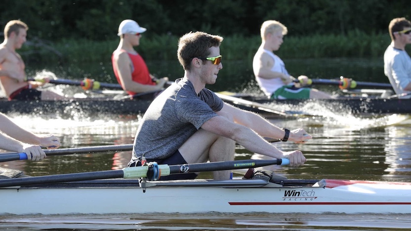 Stu McDonald rowing