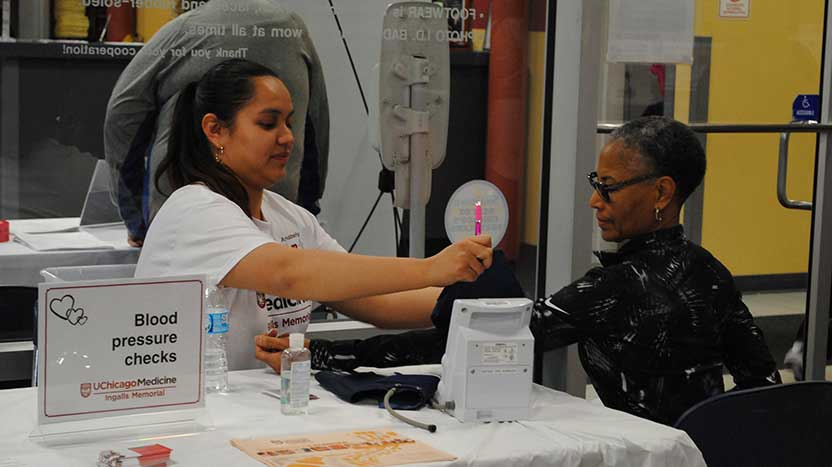 Blood pressure screening event