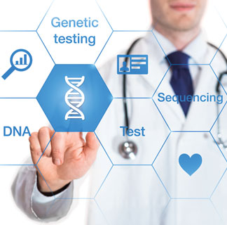 DNA, genetic testing, sequencing image