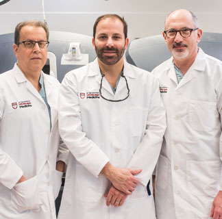 surgical oncologists Mitchell Posner, Kevin Roggin and Jeffrey Matthews