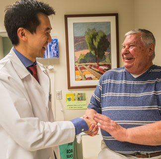 Stanley Liauw, MD, and prostate cancer patient