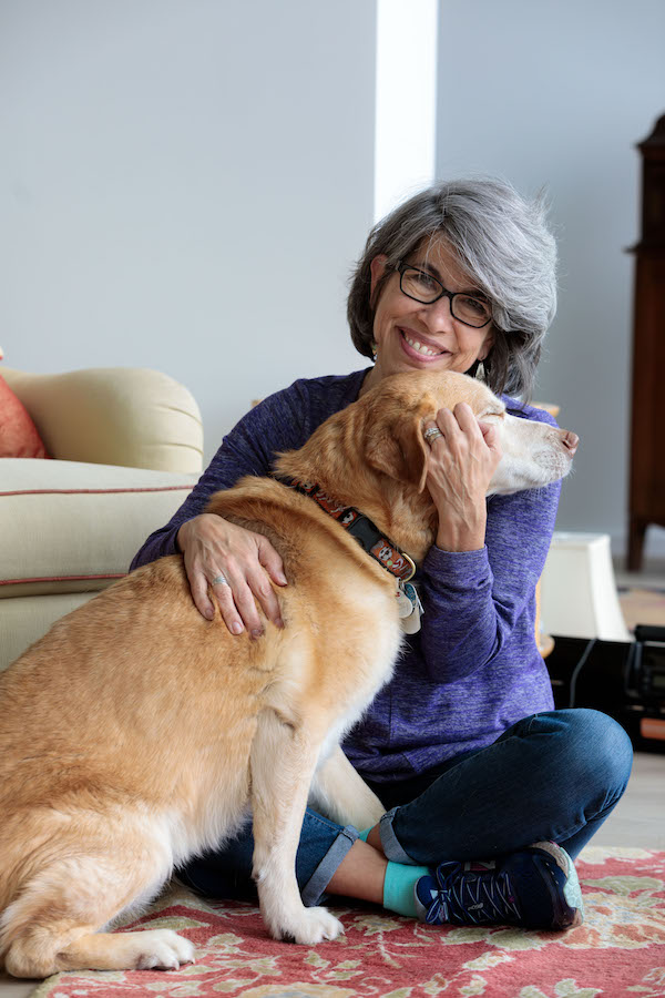 Kay Fricke and her dog, Rusty