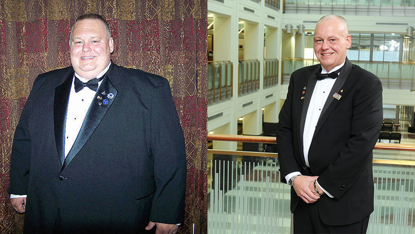 Ron Garrison before and after bariatric surgery