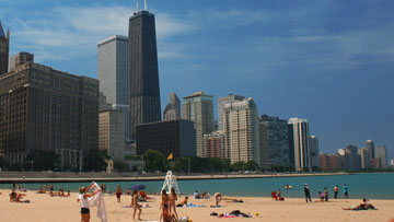 Chicago beach scene