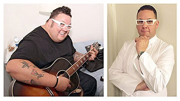 Graham Elliot before and after weight loss surgery