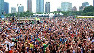 Crowd at Lollapalooza