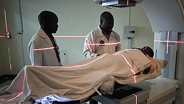 Cancer patient undergoes radiation oncology treatment in Tanzania